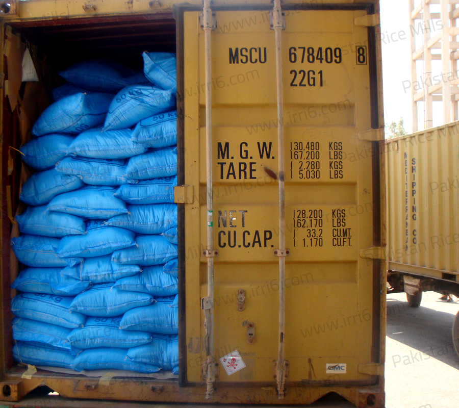 Shipment for Pakistan Long Grain IRRI-6 White Rice, 15% Broken Rice Exporters.
